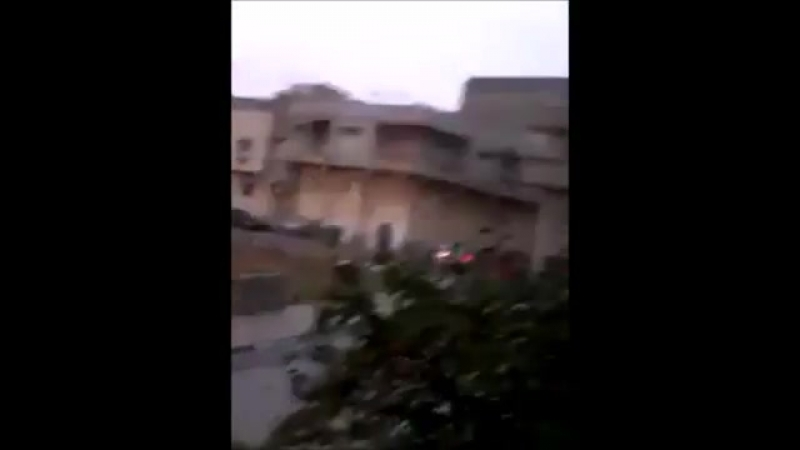 Libya - VIDEO LNA Air Force MiG-2123 striked a building where a supposed DPF sniper took position yesterday Derna. Hard to know