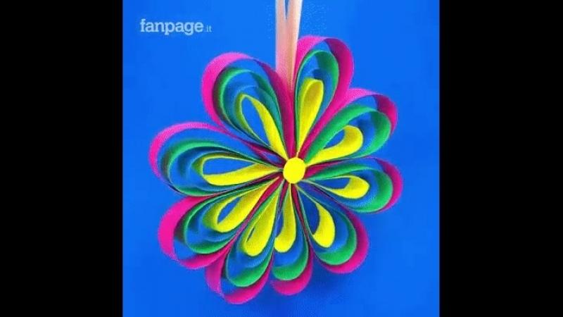 Бумажные цветы для детского сада , школы , домашних праздников . Сделай вместе с детьми. Интересная затея, скучно не будет.