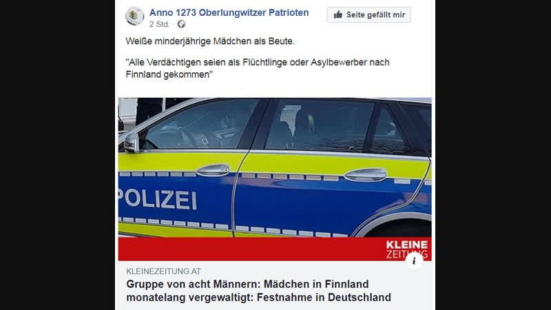 Gruppe von acht MännernMädchen in Finnland monatelang vergewaltigt...Festnahme in Deutschland.