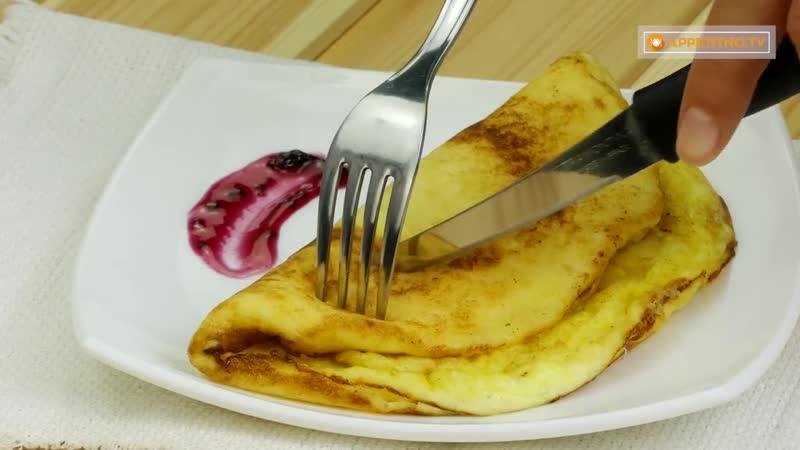 Омлет и сладкий вкус совместимы! Нежный и сытный омлет с манкой - вкуснее не бывает!