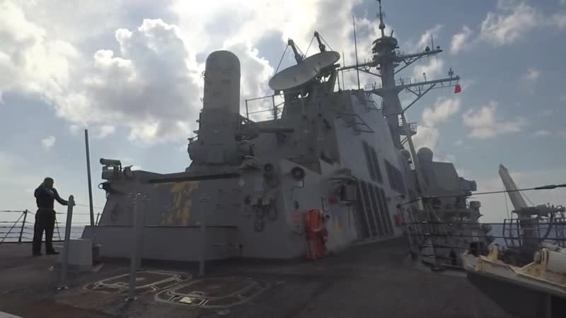 USS Spruance crew-served weapons training PACIFIC OCEAN, UNITED STATES 20.10.2018