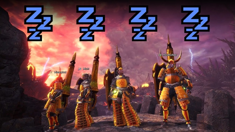 MHWorld | How strong are 4 Players with 2320 Sleep Damage?