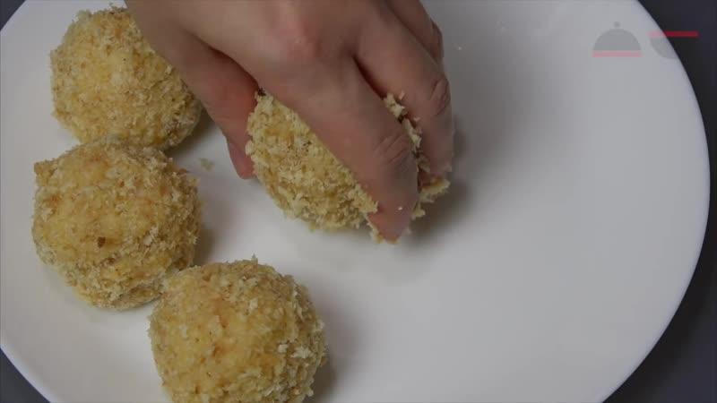 Шарики из картофельного пюре с ветчиной и сыром ЛЕГКО Easy Potato Balls With Cheese