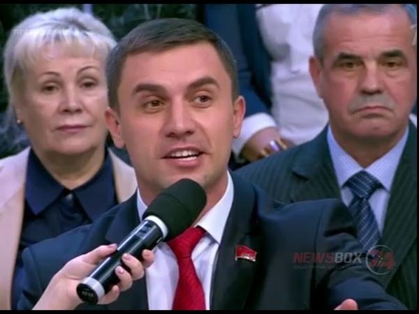 На Первом канале едва не растерзали депутата живущего на 3500 рублей в месяц
