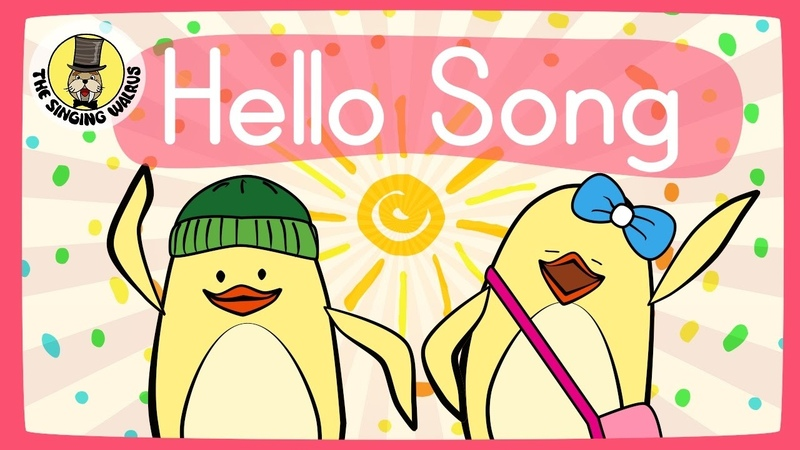 Hello Song for Kids | Greeting Song for Kids | The Singing Walrus