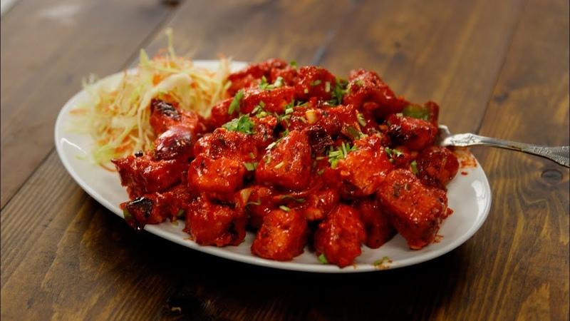 Paneer 65 Recipe - Dry Hyderabadi Restaurant Style Video - CookingShooking