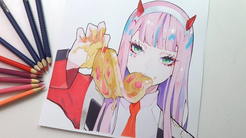 Drawing Zero Two 002 Darling in the FRANXX 「ダーリン・イン・ザ・フランキス 」
