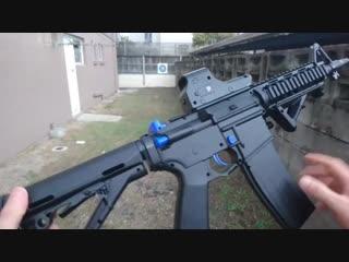 Orbeegun - m4 terminator i (gel gun)