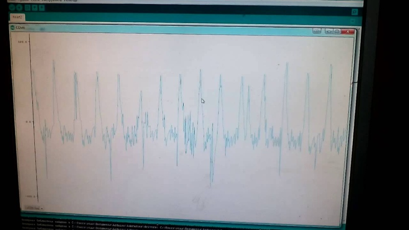 Ардуино оптический датчик серцебиения Arduino Heartbeat sensor