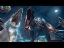 T-Rex Velociraptor vs Indominus Rex | Jurassic world (2015) [PT-BR HD]