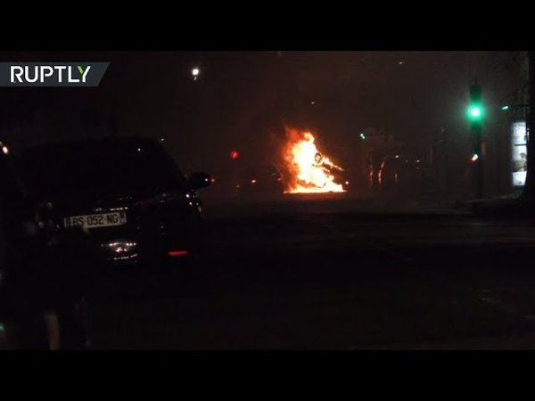 Cars torched in anti-police riot in Grenoble, France