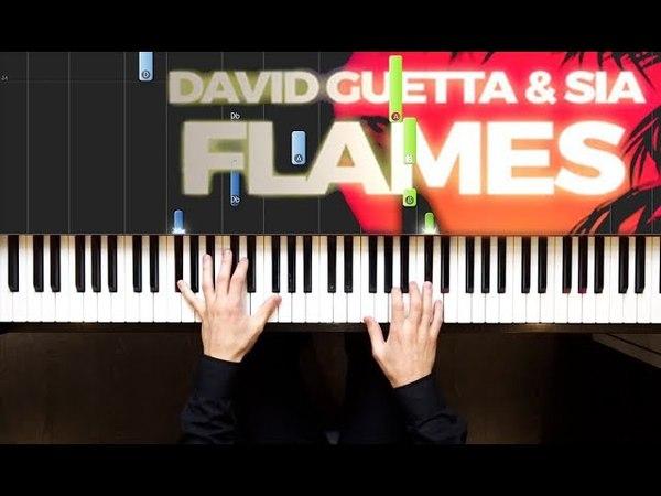David Guetta Sia - Flames | Piano cover | Sheets | Midi