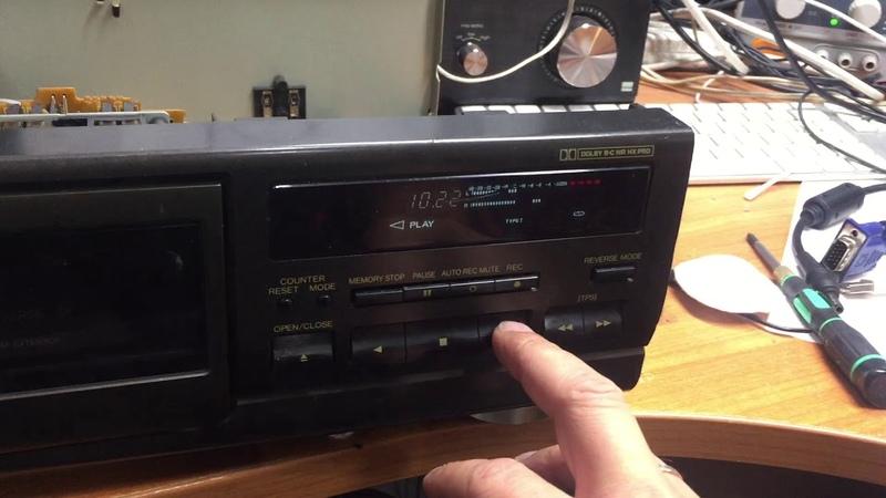 Technics RS BX501 не мотает касеты и не играет ремонт в FixAudio