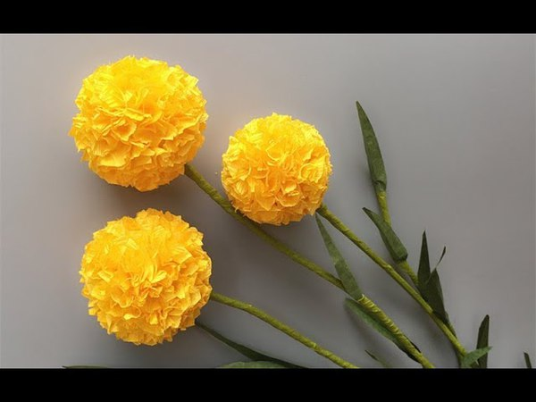 ABC TV | How To Make Billy Buttons Paper Flower From Crepe Paper 1 - Craft Tutorial