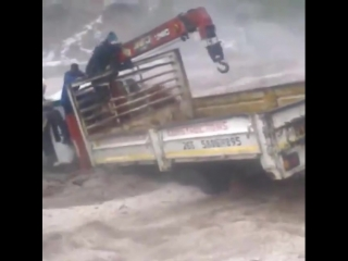 Extreme dangers of flash flooding in Quthing, Lesotho, southern Africa. March 15
