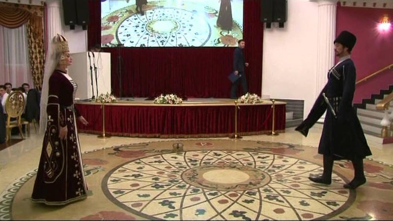 ГААТ Кабардинка Княжеский танец Къафэ ресторан Ридада г. Нальчик Кабардино-Балкария.