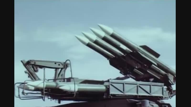Работа советского ЗРК 9K317 Бук-М2.