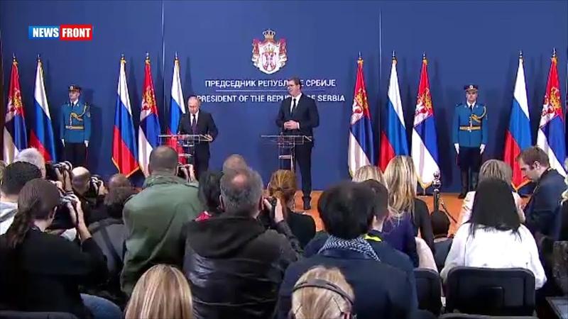 Путин вручил президенту Сербии орден Александра Невского