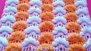 Punto a crochet Abanicos en puntos Garbanzos para mantitas de bebe paso a paso