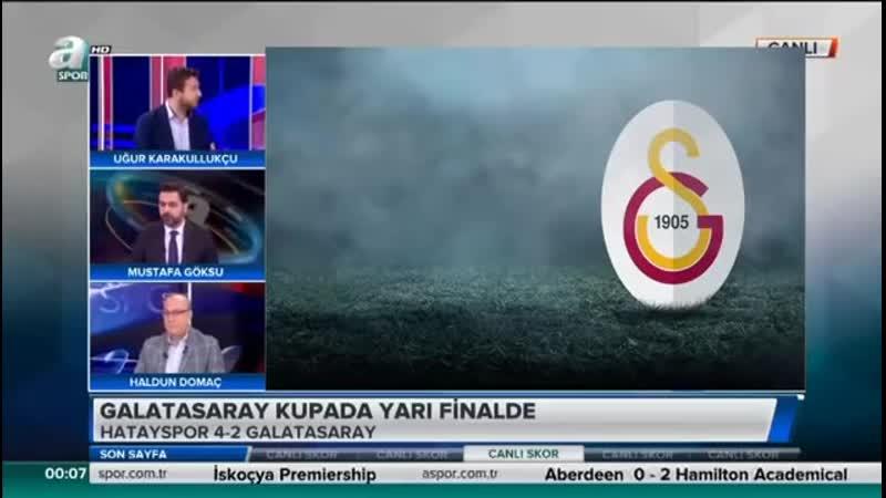 Hatayspor 4 2 Galatasaray Uğur Karakullukçu Yorumları Son Sayfa