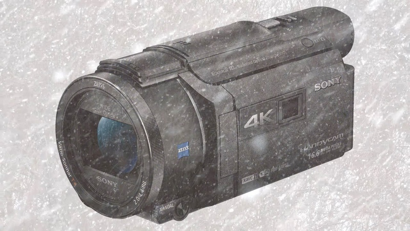 SONY FDR-AXP55 4K Handycam Full HD 1920х1080p ソニー Снегопад в Москве 28.02.2019 Snowfall in Moscow