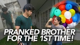 Water Balloon Prank On Brother Ranz and Niana