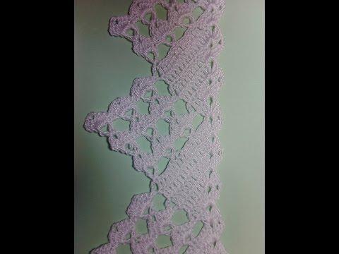 Кружевная кайма 1. Lace fringe 1. Мастер класс вязания крючком. Crochet.