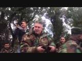 Syria, Latakia Russian General With SAA_NDF Commanders watching Battle for Salma