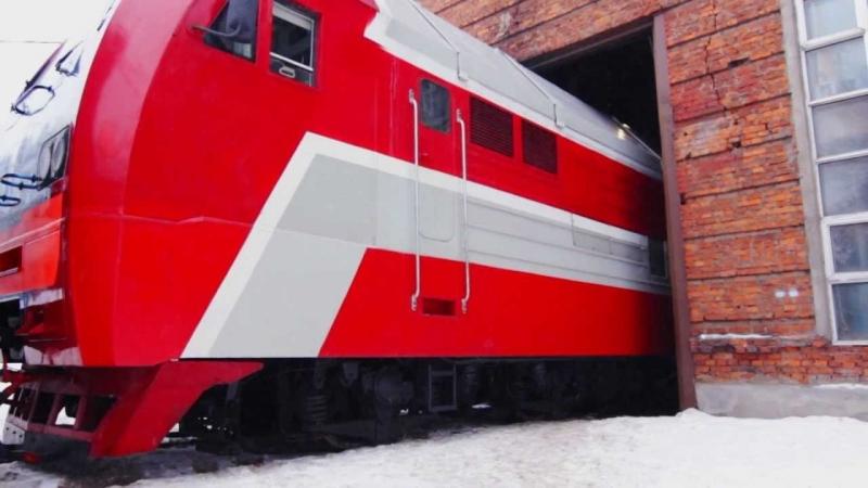 Первый российский газотурбовоз совершил эксперементальную поездку