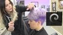Short pixie hairtrend undercut extreme haircut makeover dying purple by Alves Bechtholdt