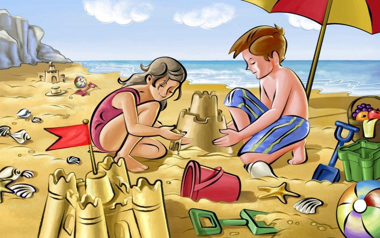 Смешные картинках, пляж прикольные картинки рисованные