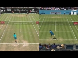 Yes, @NickKyrgios mimicked Federers serve in the middle of a match. - Yes, we were enterta