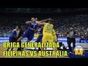 Briga entre Austrália e Filipinas, jogadores brigam em jogo de basquete