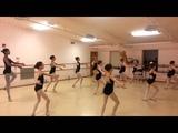 Ballet class adagio