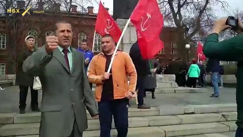 Провокаторы напали на протестующих в Ульяновске 05 05 2018