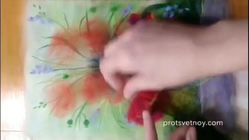 Картина шерстью Маки (ТМЦветной)