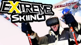 SKI IN VIRTUAL REALITY | Extreme Skiing Gameplay (HTC Vive VR)