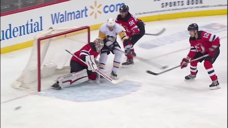 Pittsburgh Penguins vs New Jersey Devils - Feb 19, 2019 - Game Highlights - NHL 2018-19 - НХЛ