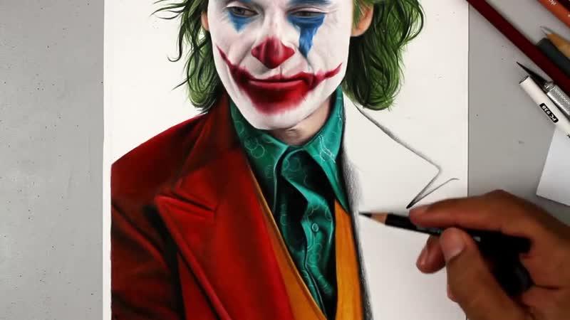 Desenhando o Coringa Joker Speed Drawing online video
