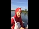 Котались на моторной лодке по инесею