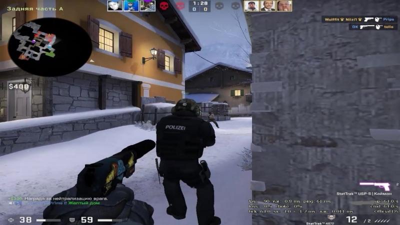 USP-S 4k all headshots on Austria