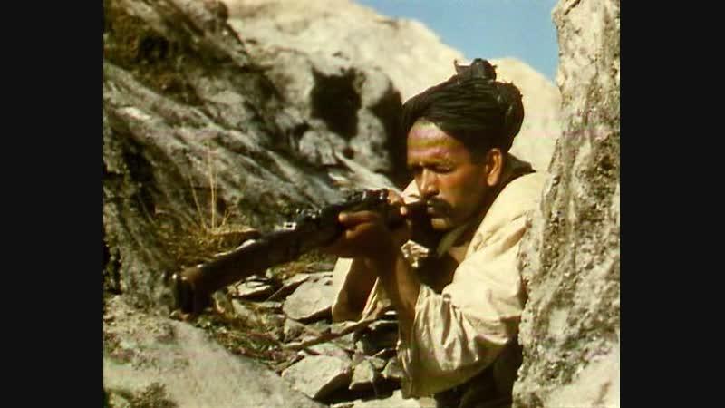 Барабан (1938) Нападение индийских повстанцев на колонну английских колониальных частей в горах