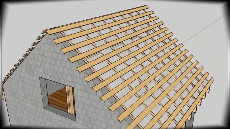 План строительства двускатной крыши