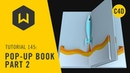 How to make a pop-up book page in Cinema 4D - Tutorial 145 Pop-up Book Part 2