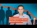 Алексей Навальный Фальшивая популярность Путина. Доказательства