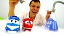 Видео для детей. Роботы-поезда и Доктор Ой. Про машинки.