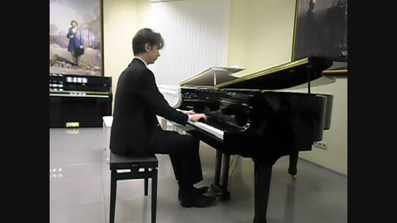 Платон Черкасов, фортепиано. Студент 2-го курса Консерватории, Санкт-Петербург, 13-го декабря 2018 г.