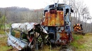 Abandoned Train crash remains from the film The Fugitive