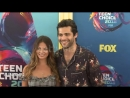 Matthew Daddario and Esther Kim at the Teen Choice Awards 2018 at The Forum on August 12, 2018