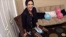 Verena sit to pop balloons Looner's Base
